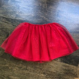 Cat & Jack Red Heart Tulle Skirt - Size 4-5
